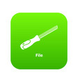 chisel icon green vector image vector image