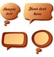 Chocolate speech and idea bubbles vector image vector image