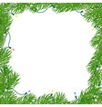 christmas square frame vector image vector image