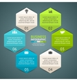 circle hexagon infographic Template for vector image