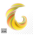 color paint background abstract 3d wave vector image