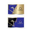 corporate banner design gold and blue vector image vector image