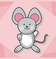 cute mouse baby animal cartoon image vector image vector image