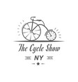 cycle show logotype vector image