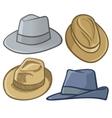 fedora hats vector image