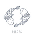 fishes pisces vector image