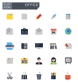 flat office icons set vector image
