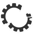 gear crash icon vector image vector image