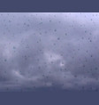 gloomy weather cloudy sky water drops on vector image