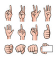 hand 02 vector image