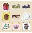 Hand drawn party and celebration emblems set vector image vector image