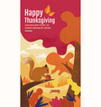 happy thanksgiving autumn banner design vector image vector image