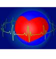 Heart beat vector image vector image