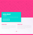 holiday concept with thin line icons sun yacht vector image vector image