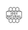 honeycombs natural honey product line icon vector image vector image