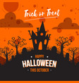 House hill flat happy halloween background