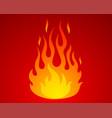 icon fire vector image
