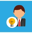 idea business man suit worker icon vector image