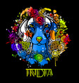 image of an indian dog in indian ornament vector image vector image