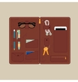 Leather Bags for accessories vector image