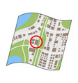 location on the maprealtor single icon in cartoon vector image