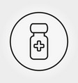medicine jar with cross icon editable vector image vector image