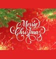 merry christmas greeting card and wish vector image