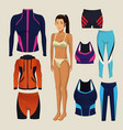 model woman with fitness clothes vector image vector image