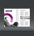 modern brochure layout design template vector image