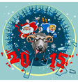 New year 2015 Santa Claus and Snow Maiden grabbed vector image vector image