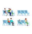 passengers in departure lounge set vector image