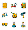 petrol icons set cartoon style vector image vector image