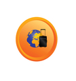 planet travel button vector image vector image