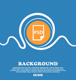 PSD Icon sign Blue and white abstract background vector image vector image
