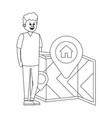 real estate man cartoon vector image