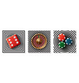 realistic casino elements collection vector image vector image