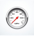 realistic speedometer isolated vector image