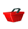 Red shopping basket icon vector image