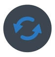 Refresh Ccw flat smooth blue colors round button vector image vector image