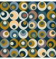 retro circle seamles pattern vector image vector image