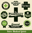 Retro Medical labels vector image