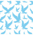 seamless pattern with blue flying birds eagles vector image vector image