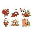 set of Christmas Santa Claus vector image vector image