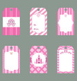 set of cute creative cards with princess theme vector image vector image