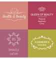 Set of logos and symbols for beauty vector image vector image