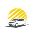 shadow of city car vector image