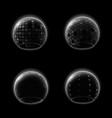 shields bubble transparent futuristic glossy vector image vector image