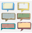 Six torn paper speech bubbles vector image vector image