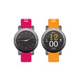 smartwatch wearable technology flat icon eps10 vector image vector image