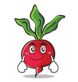 smile face radish character cartoon collection vector image